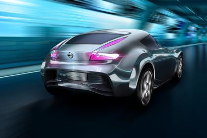 future nissan EV sports car rear
